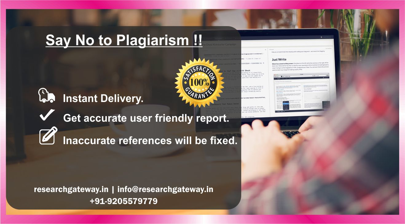 Say No To Plagiarism